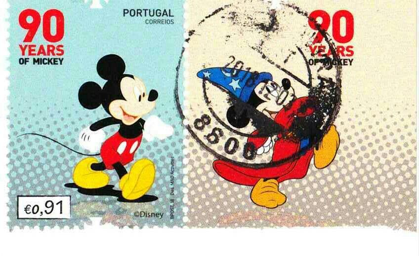 ミッキーマウス生誕90年の記念切手