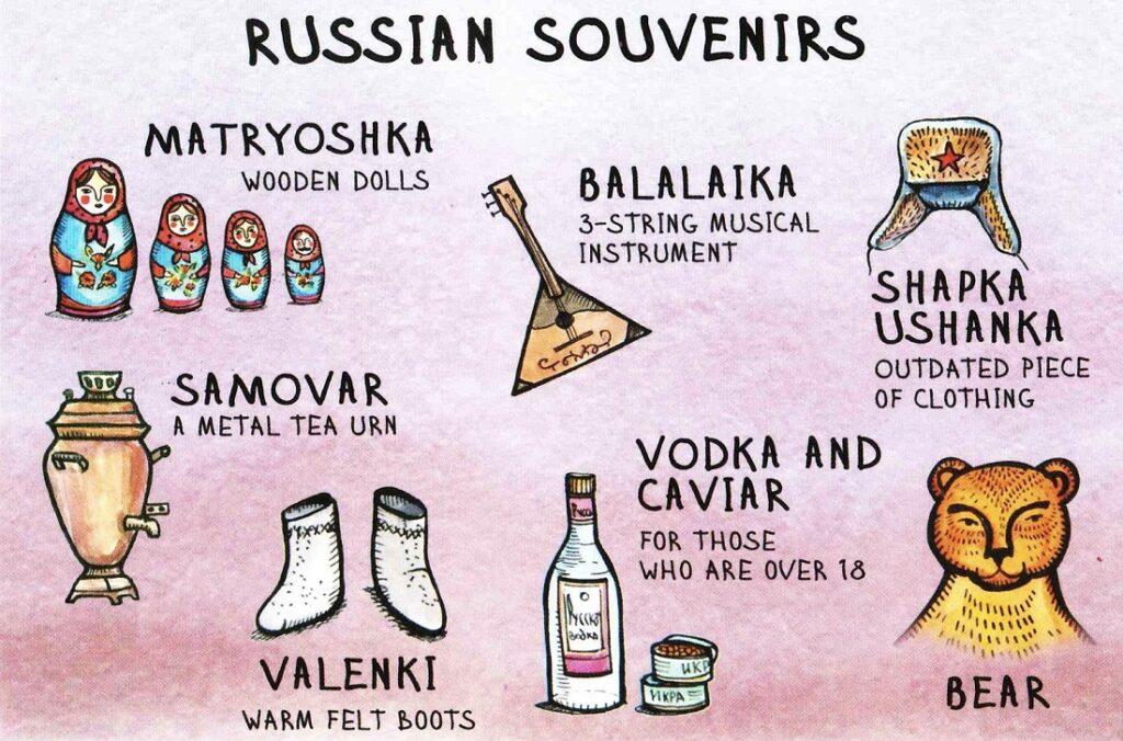 ロシアの土産物カード