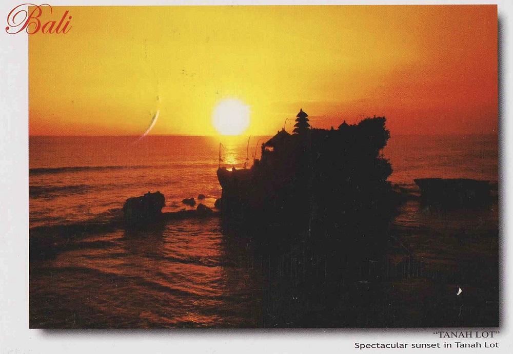 夕日がきれいなバリ島のカード