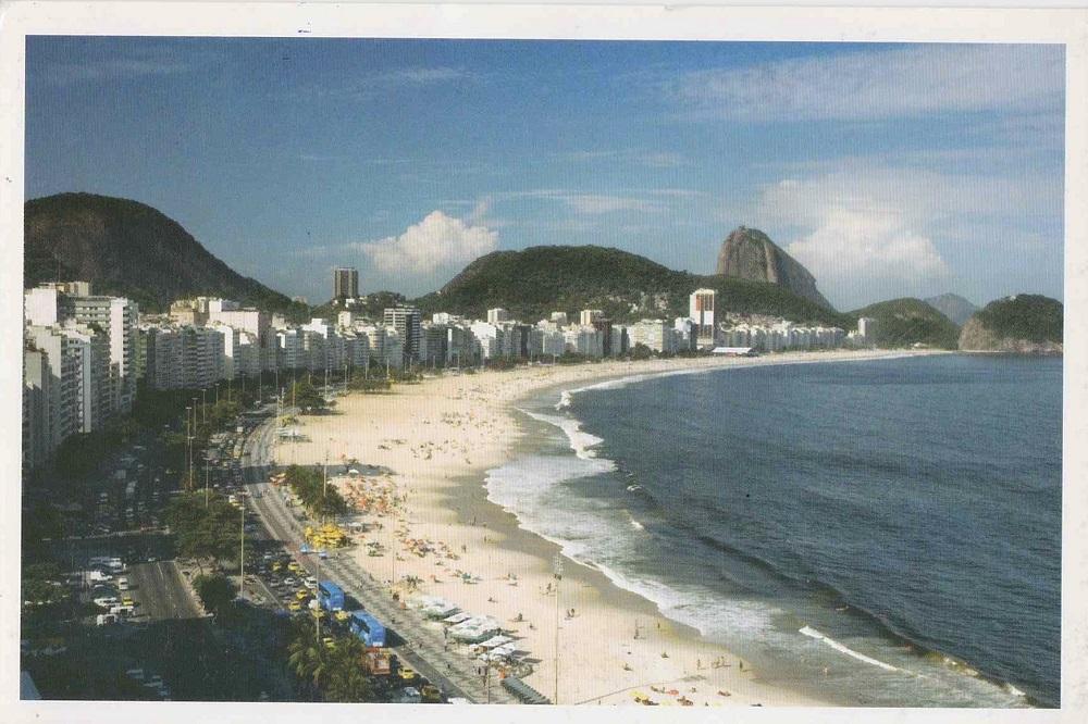 ブラジル、コパカバナビーチの景色カード