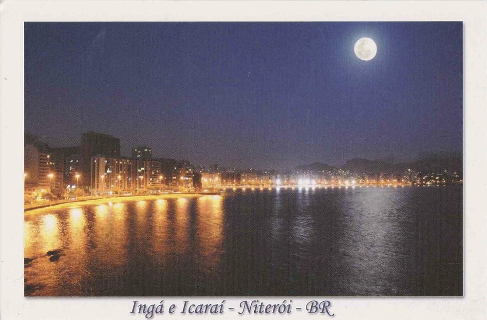 ブラジル、ニカロイの夜景カード