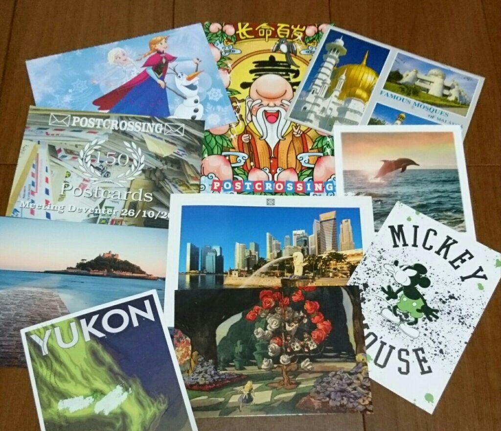 ポスクロを通じて届いたたくさんのポストカード