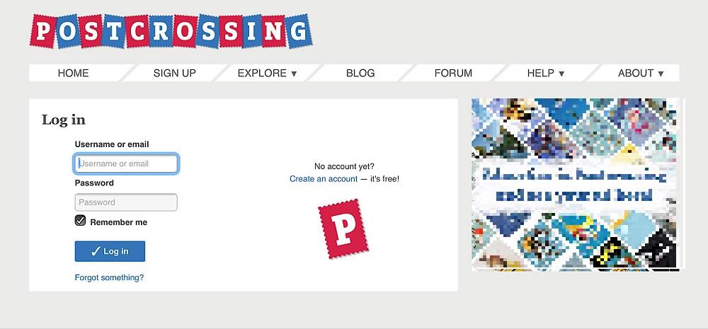 ポスクロのログイン画面